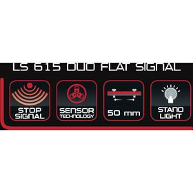 Trelock LS 615 Duo Flat Signal Dynamo Achterlicht, black